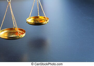 scale or scales with copyspace showing law justice or legal...