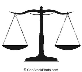 Scale symbol - vector - Scales of Justice, weight symbol - ...