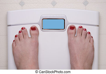 Scale with Female Feet