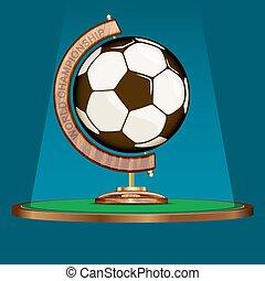 scaleniowy, piłka nożna, całość, świat