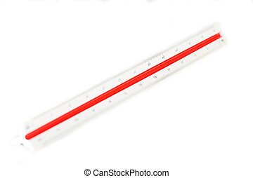 Scaler on white background - Scaler for measurements on...