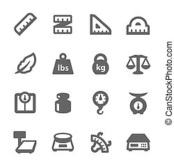 Scales and Rulers Icons - Simple Set of Scales and Rulers...