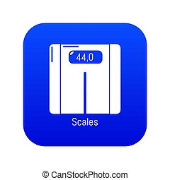 Scales icon blue