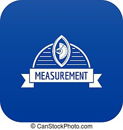 Scales icon blue vector