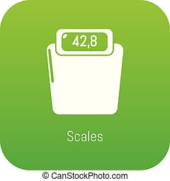 Scales icon green vector