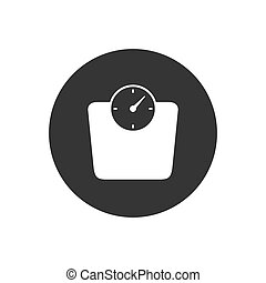 Scales icon on gray. Vector Modern flat style
