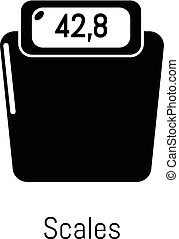 Scales icon, simple black style