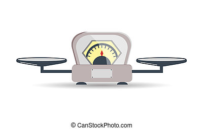 Scales icon. Vector cartoon illustration of a scales, isolated on a light background. Element for your design.