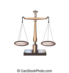 Scales - Isolated 2 - Scales on white background. Digital...