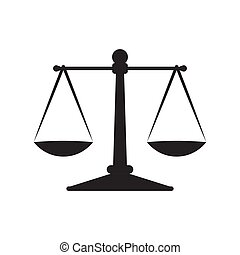 Scales justice icon isolated on white background.