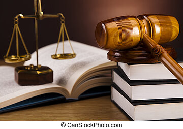 Scales of Justice and Judge gavel - Law and justice concept...