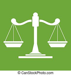 Scales of justice icon green