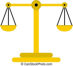 Scales of justice icon isolated
