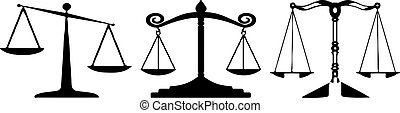scales of justice icon on white background