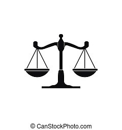 Scales of justice icon, simple style