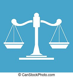 Scales of justice icon white