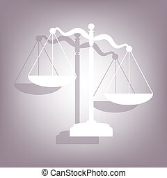 Scales of Justice icon with shadow