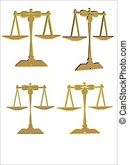 scales of justice in 3d gold