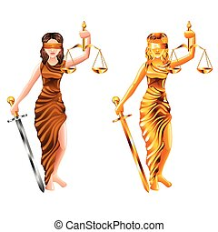 scales of justice isolated vector - lady scales of justice...