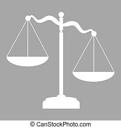 scales of justice - Scales of Justice sign. Flat style icon....