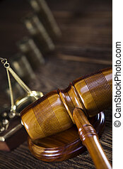 Scales of Justice,judge gavel,coins