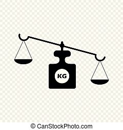 Scales on an isolated transparent background. Vector scales. The concept is a symbol of justice.