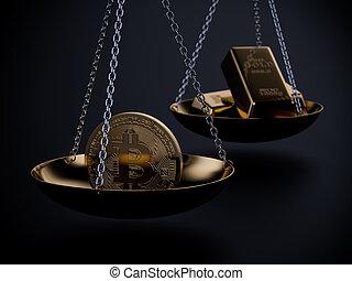 Bitcoin price concept image
