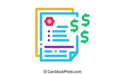 scales with money nd businesspeople Icon Animation. color scales with money nd businesspeople animated icon on white background