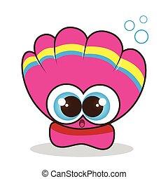 Scallop cute cartoon
