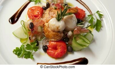 Scallop entree - a great new Zealand entree of scallops