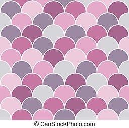 Scallop seamless vector pattern