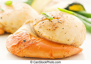 Scallop with Vegetable