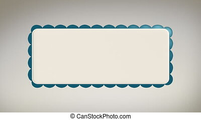Scalloped Sticker Rolling w Alpha - Title animation of a...