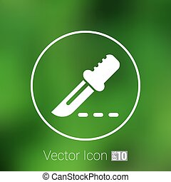 Scalpel Icon on Square Black Internet Button.