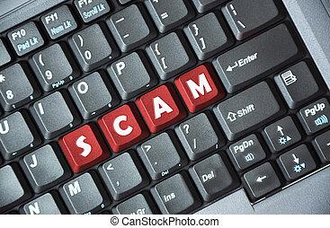 scam , πληκτρολόγιο