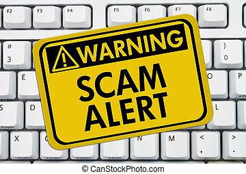 scam, alarma