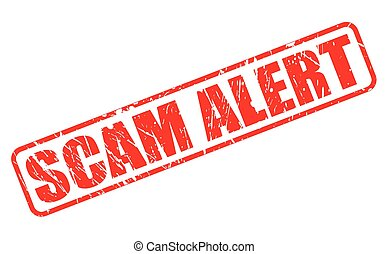 SCAM alert red stamp text