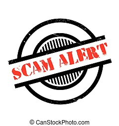 Scam Alert rubber stamp