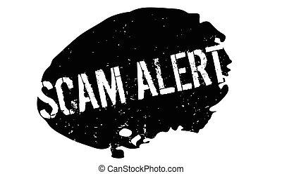 Scam Alert rubber stamp