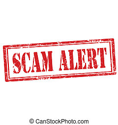 Scam Alert-stamp - Grunge rubber stamp with text Scam...