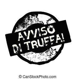scam alert stamp in italian