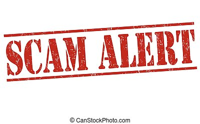 Scam alert stamp - Scam alert grunge rubber stamp on white...