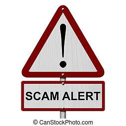 scam, alerte, signe prudence