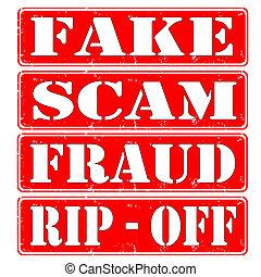 scam, falsificación