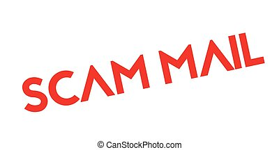 Scam Mail rubber stamp