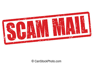 Scam mail stamp