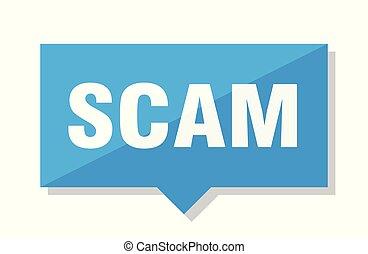 scam price tag - scam blue square price tag