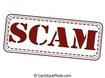 scam stamp - scam grunge stamp with on vector illustration