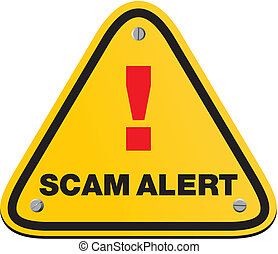 scam triangle sign