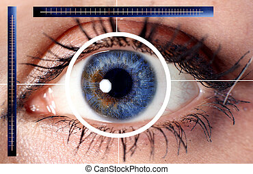 scan cyber eye for security or identification